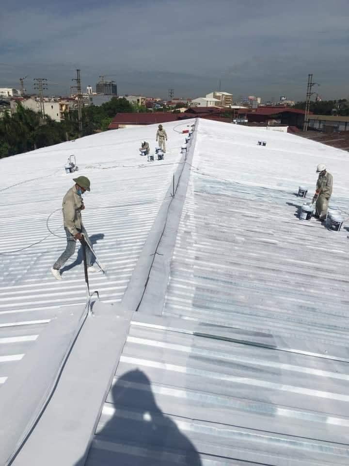 Quy trìnhthi công sơn chống nóng mái tôn nhà xưởng tại Đà Nẵng