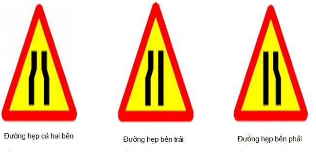 Mẫu biển báo công trường đường hẹp