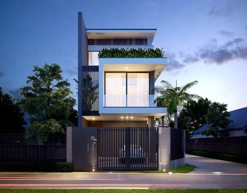 mẫu thiết kế nhà phố tại Công Ty Thiết Kế Xây Dựng Khang Thịnh