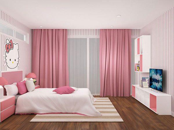 Ảnh 39 - Phòng ngủ màu hồng và trắng