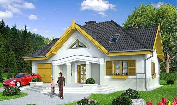 Ảnh 21 - Sơn ngoại thất nhà cấp 4 đẹp với màu vàng và trắng