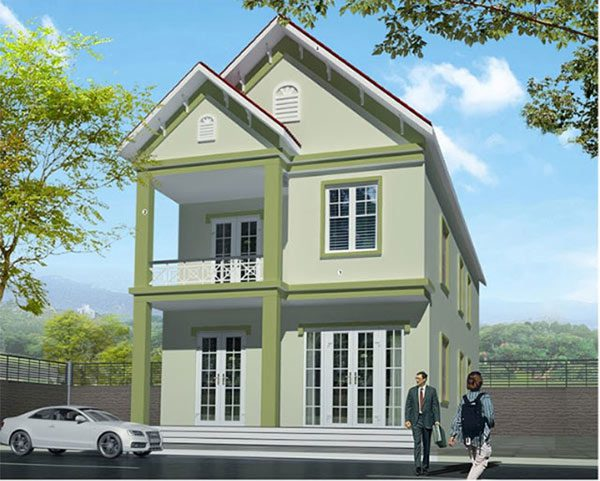 Nhà màu xanh lá mạ