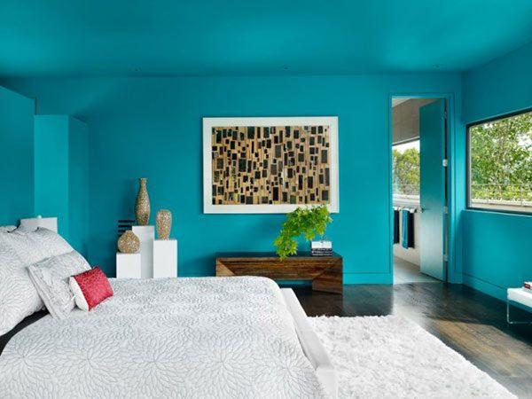 Ảnh 16 - Phòng ngủ màu xanh ngọc bích